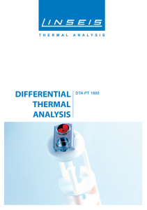 DTA PT 1600: High temperature DTA Thermal Analysis of LINSEIS