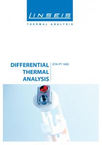 DTA PT 1000 Product brochure (PDF)