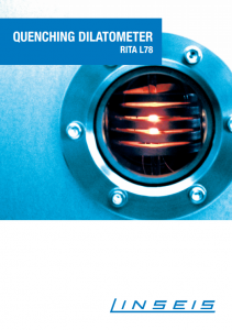Linseis Produktbroschüre Dilatometer RITA Quenching