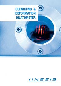 Linseis Produktbroschüre Dilatometer RITA Quenching & Deformation