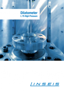 Linseis Produktbroschüre Hochdruckdilatometer