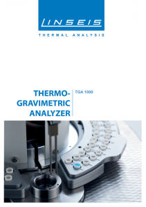 Thermo Gravimetric Analyzer TGA 1000 (PDF)