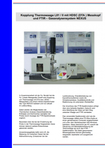 Linseis Broschüre FTIR L81 STA
