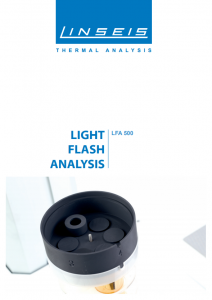 Light Flash Analysis 500 Product brochure (PDF)
