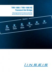 Linseis Produktbroschüre THB 1000