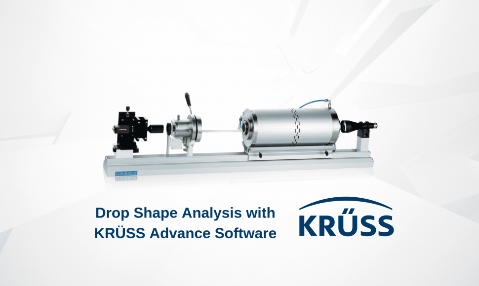 Linseis cooperation with Krüss for contact angle measurements