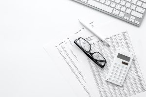 Lunettes de stylo en papier de calcul
