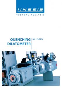 Linseis Produktbroschüre Dilatometer RITA