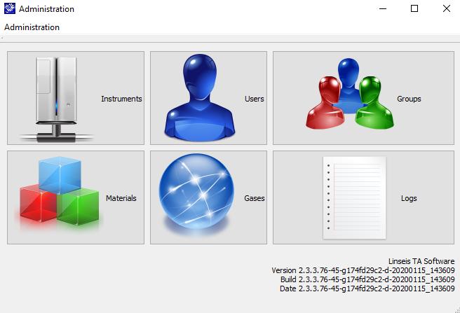 Linseis TA Software Admin
