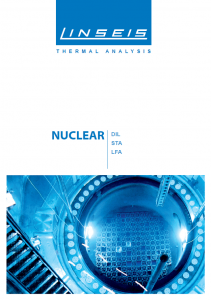 Nuclear Brochure for Thermal analysis