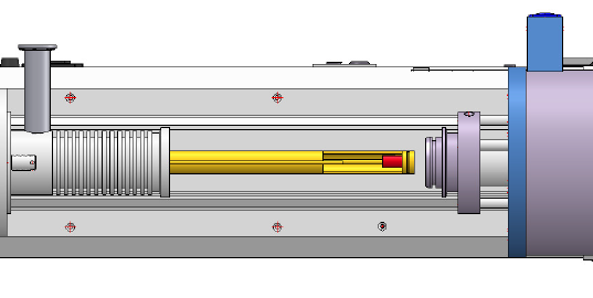 Dilatometer Schubstange (push rod) von oben