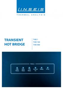 Linseis Produktbroschüre THB 1 100 1000