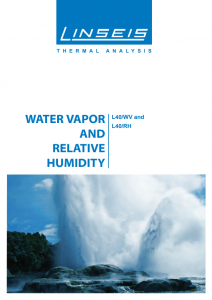 Broschüre Water Vapor and Relative Humidity