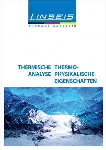 Linseis Thermische Analyse Produktkataloge 2021